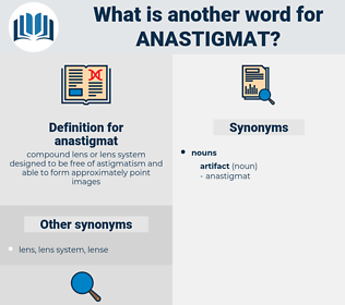 anastigmat, synonym anastigmat, another word for anastigmat, words like anastigmat, thesaurus anastigmat