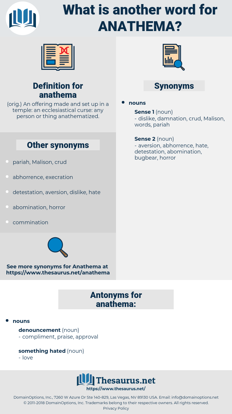 anathema, synonym anathema, another word for anathema, words like anathema, thesaurus anathema
