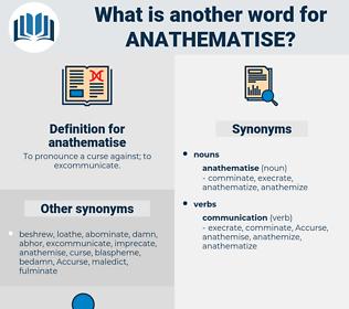 anathematise, synonym anathematise, another word for anathematise, words like anathematise, thesaurus anathematise