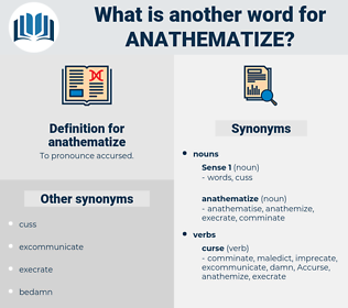 anathematize, synonym anathematize, another word for anathematize, words like anathematize, thesaurus anathematize