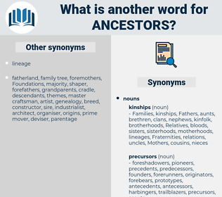 ancestors, synonym ancestors, another word for ancestors, words like ancestors, thesaurus ancestors