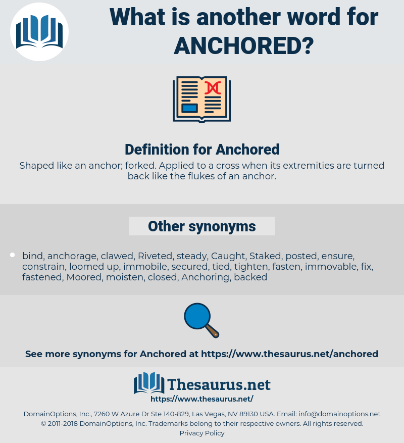 Anchored, synonym Anchored, another word for Anchored, words like Anchored, thesaurus Anchored