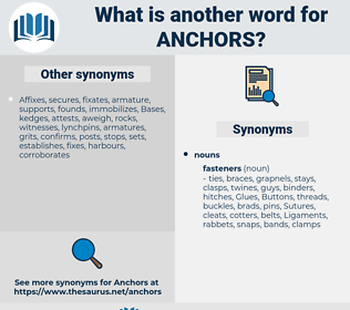 anchors, synonym anchors, another word for anchors, words like anchors, thesaurus anchors