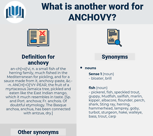 anchovy, synonym anchovy, another word for anchovy, words like anchovy, thesaurus anchovy