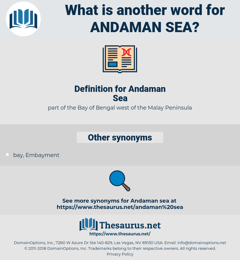 Andaman Sea, synonym Andaman Sea, another word for Andaman Sea, words like Andaman Sea, thesaurus Andaman Sea