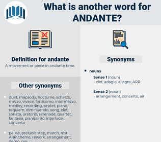 andante, synonym andante, another word for andante, words like andante, thesaurus andante