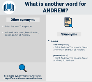 andrew, synonym andrew, another word for andrew, words like andrew, thesaurus andrew