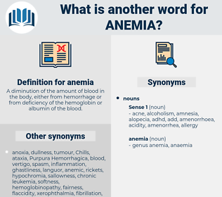 anemia, synonym anemia, another word for anemia, words like anemia, thesaurus anemia