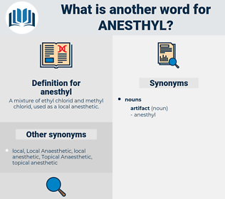 anesthyl, synonym anesthyl, another word for anesthyl, words like anesthyl, thesaurus anesthyl