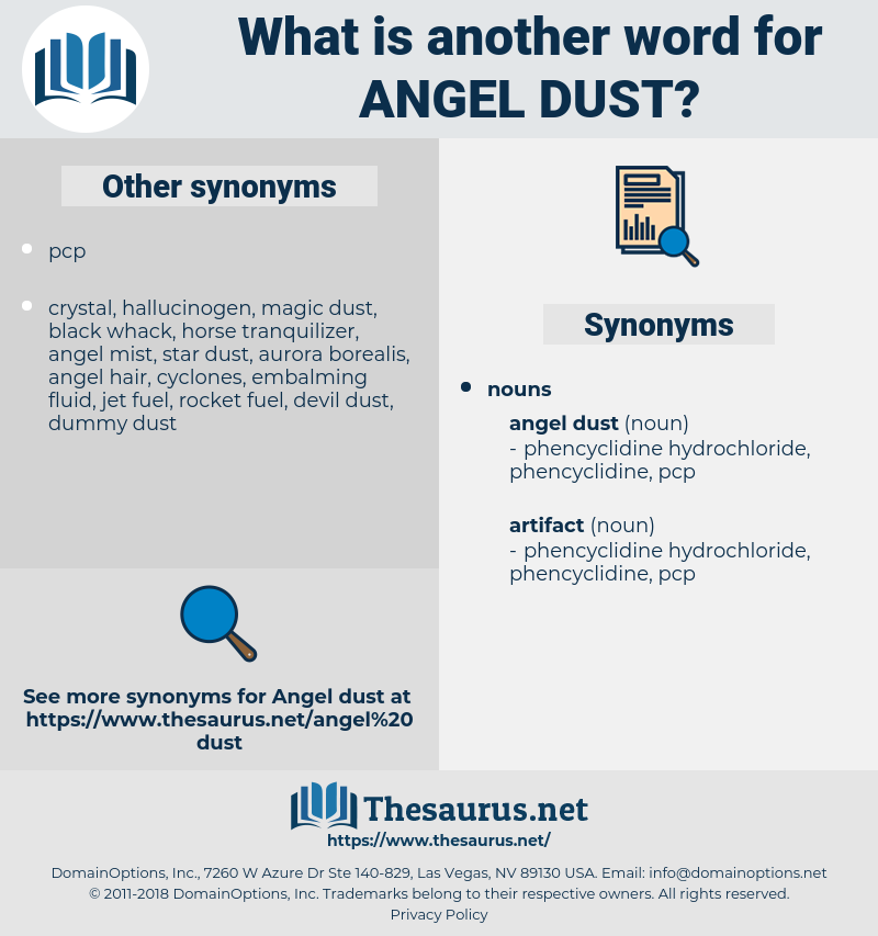 angel dust, synonym angel dust, another word for angel dust, words like angel dust, thesaurus angel dust