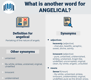 angelical, synonym angelical, another word for angelical, words like angelical, thesaurus angelical