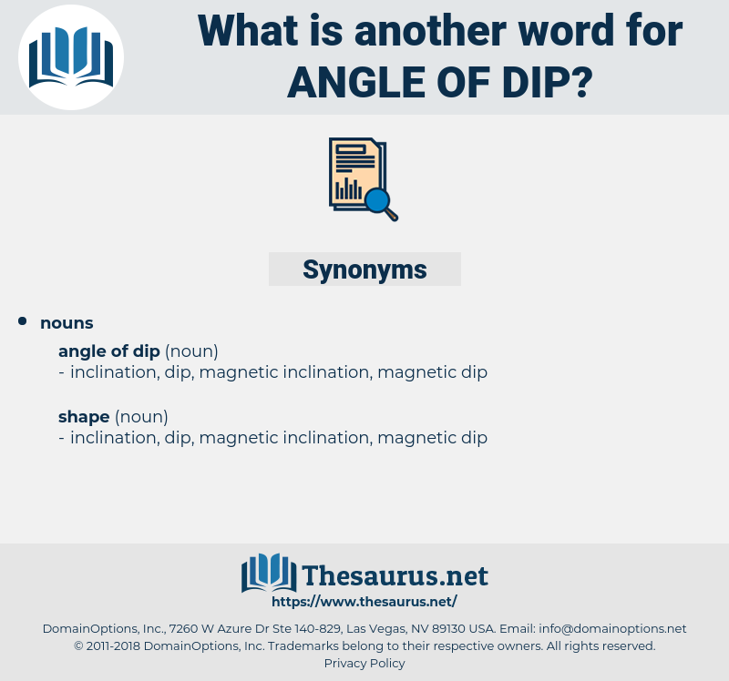 angle of dip, synonym angle of dip, another word for angle of dip, words like angle of dip, thesaurus angle of dip