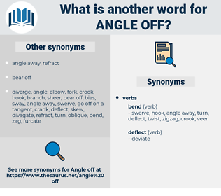 angle off, synonym angle off, another word for angle off, words like angle off, thesaurus angle off