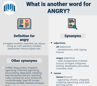 angry, synonym angry, another word for angry, words like angry, thesaurus angry