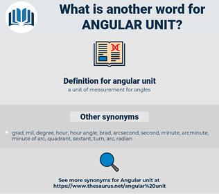 angular unit, synonym angular unit, another word for angular unit, words like angular unit, thesaurus angular unit