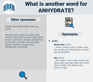 anhydrate, synonym anhydrate, another word for anhydrate, words like anhydrate, thesaurus anhydrate