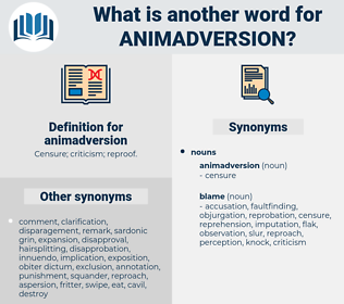 animadversion, synonym animadversion, another word for animadversion, words like animadversion, thesaurus animadversion