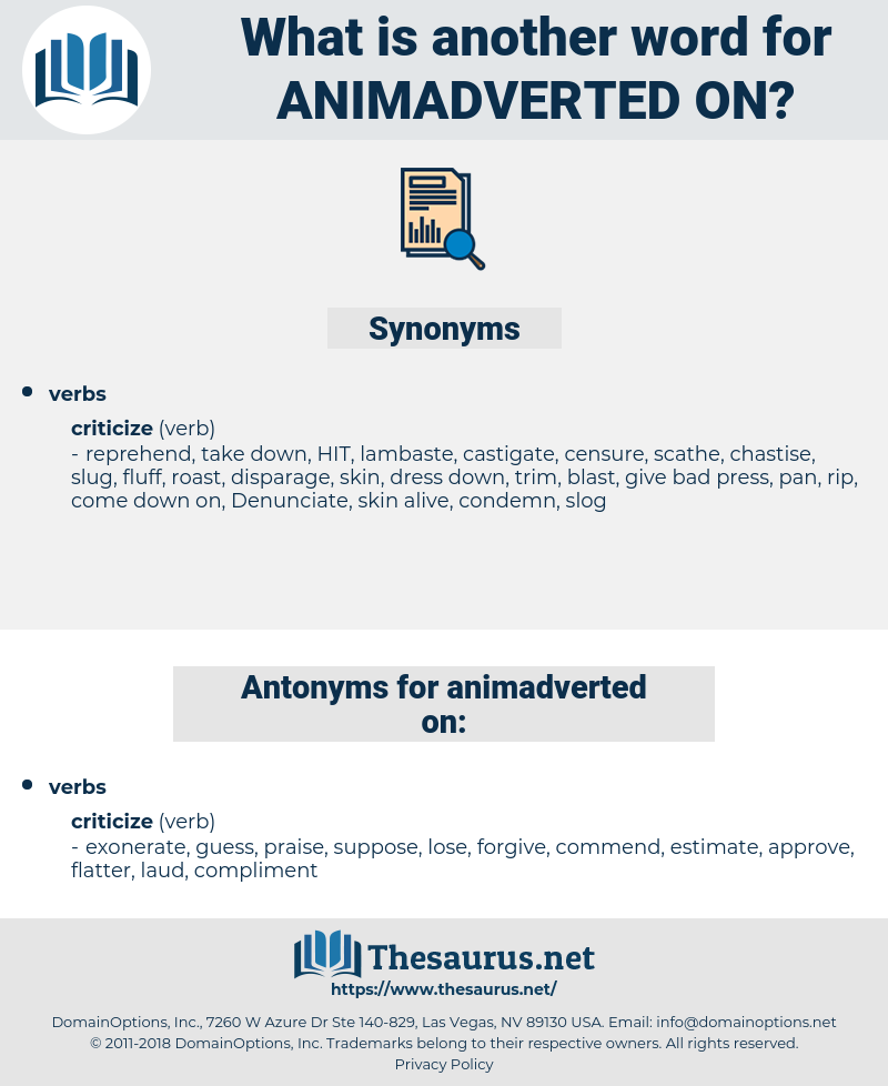 animadverted on, synonym animadverted on, another word for animadverted on, words like animadverted on, thesaurus animadverted on