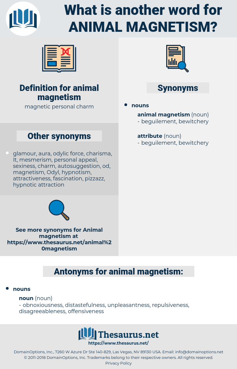 animal magnetism, synonym animal magnetism, another word for animal magnetism, words like animal magnetism, thesaurus animal magnetism