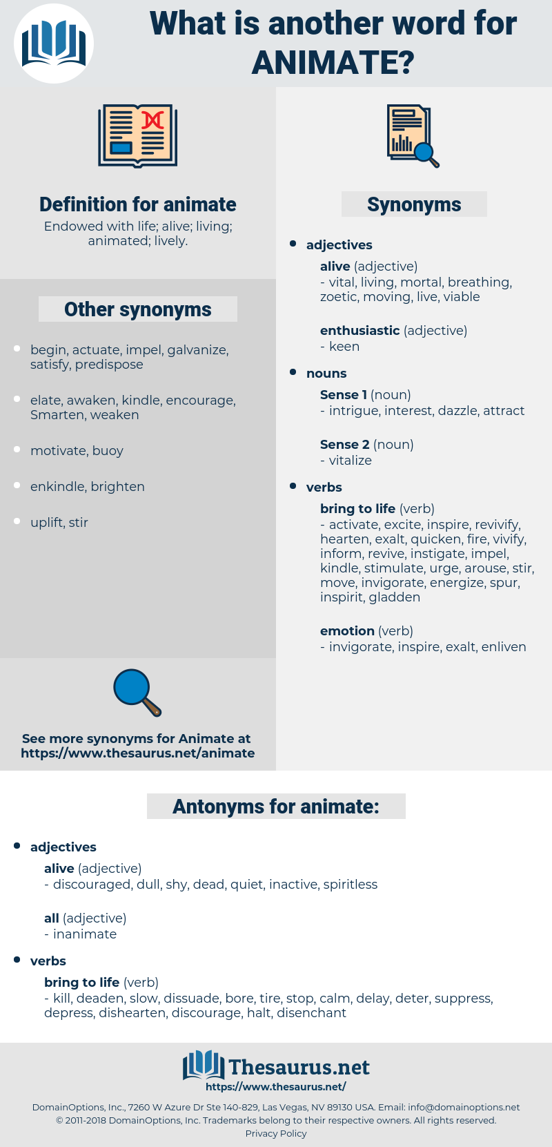 animate, synonym animate, another word for animate, words like animate, thesaurus animate
