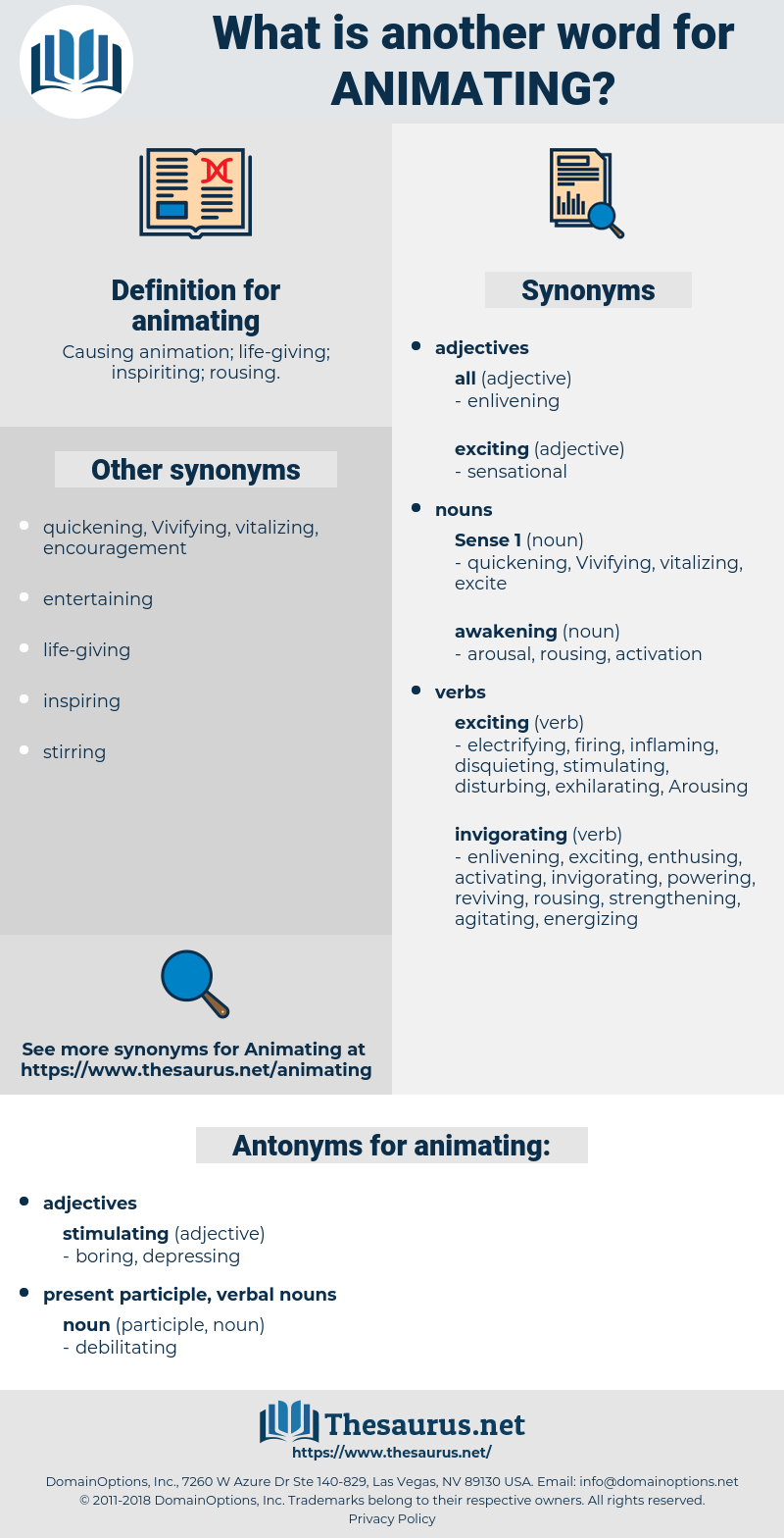 animating, synonym animating, another word for animating, words like animating, thesaurus animating