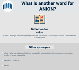 anion, synonym anion, another word for anion, words like anion, thesaurus anion