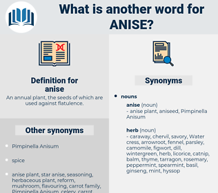anise, synonym anise, another word for anise, words like anise, thesaurus anise