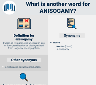anisogamy, synonym anisogamy, another word for anisogamy, words like anisogamy, thesaurus anisogamy
