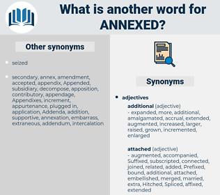 Annexed, synonym Annexed, another word for Annexed, words like Annexed, thesaurus Annexed