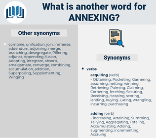 Annexing, synonym Annexing, another word for Annexing, words like Annexing, thesaurus Annexing