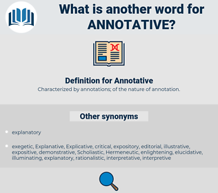 Annotative, synonym Annotative, another word for Annotative, words like Annotative, thesaurus Annotative