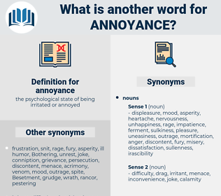 annoyance, synonym annoyance, another word for annoyance, words like annoyance, thesaurus annoyance