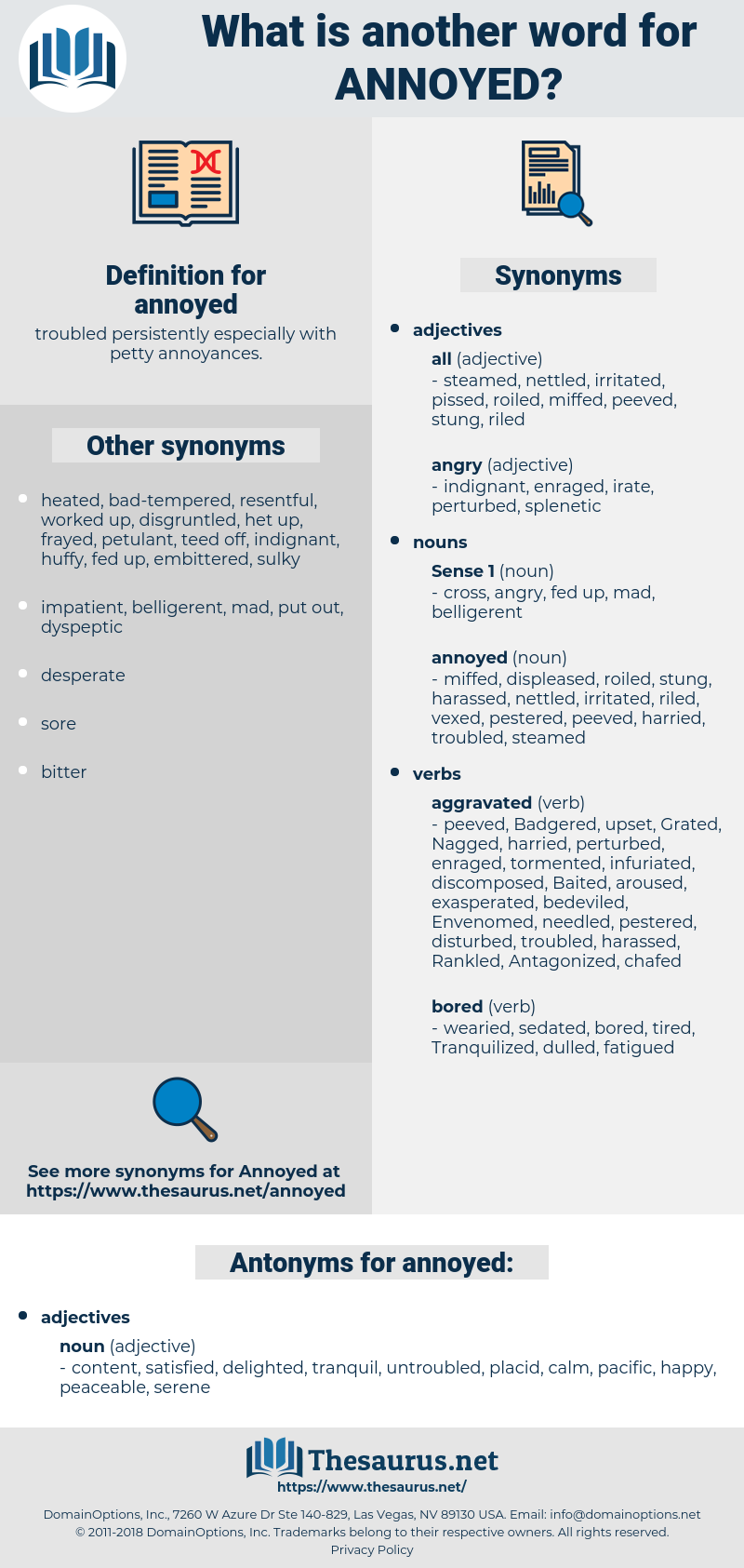 annoyed, synonym annoyed, another word for annoyed, words like annoyed, thesaurus annoyed
