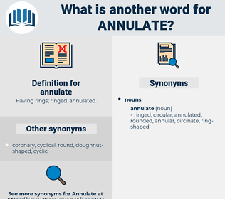 annulate, synonym annulate, another word for annulate, words like annulate, thesaurus annulate