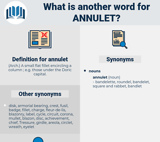 annulet, synonym annulet, another word for annulet, words like annulet, thesaurus annulet