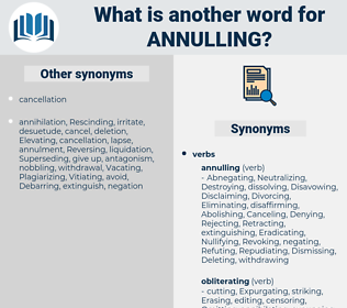Annulling, synonym Annulling, another word for Annulling, words like Annulling, thesaurus Annulling