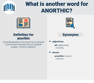 anorthic, synonym anorthic, another word for anorthic, words like anorthic, thesaurus anorthic