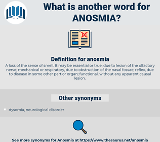 anosmia, synonym anosmia, another word for anosmia, words like anosmia, thesaurus anosmia