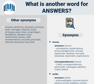 answers, synonym answers, another word for answers, words like answers, thesaurus answers