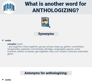 anthologizing, synonym anthologizing, another word for anthologizing, words like anthologizing, thesaurus anthologizing