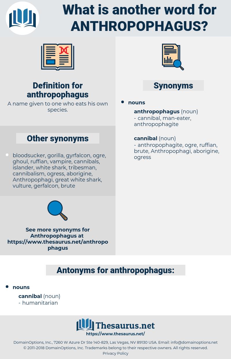 anthropophagus, synonym anthropophagus, another word for anthropophagus, words like anthropophagus, thesaurus anthropophagus