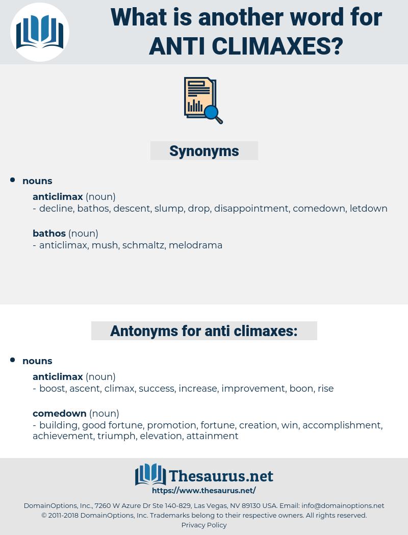 anti-climaxes, synonym anti-climaxes, another word for anti-climaxes, words like anti-climaxes, thesaurus anti-climaxes