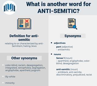 anti-semitic, synonym anti-semitic, another word for anti-semitic, words like anti-semitic, thesaurus anti-semitic