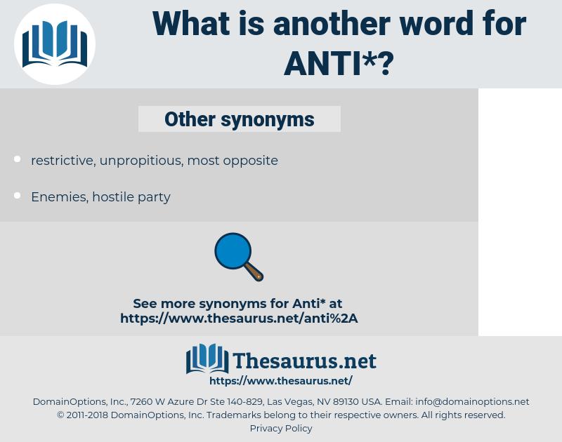 anti, synonym anti, another word for anti, words like anti, thesaurus anti