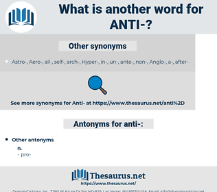 anti, synonym anti, another word for anti, words like anti, thesaurus anti