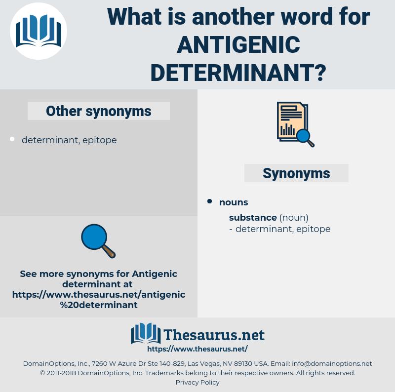 antigenic determinant, synonym antigenic determinant, another word for antigenic determinant, words like antigenic determinant, thesaurus antigenic determinant