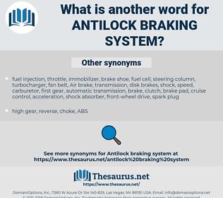 antilock braking system, synonym antilock braking system, another word for antilock braking system, words like antilock braking system, thesaurus antilock braking system
