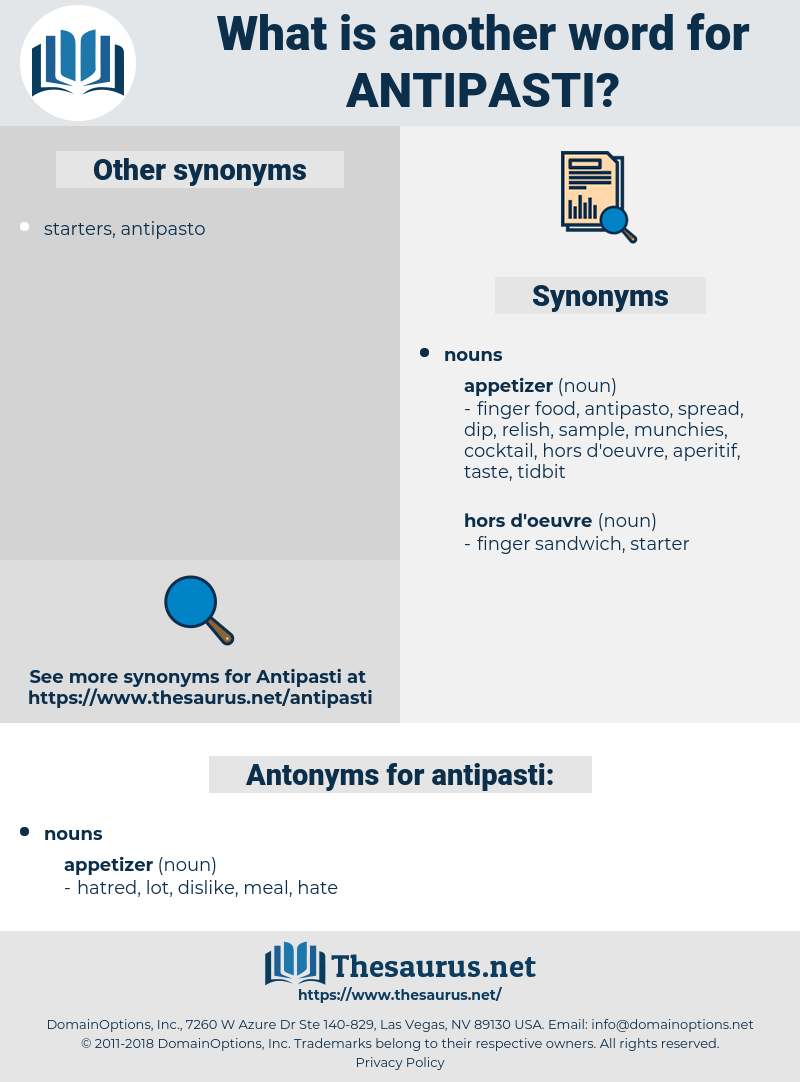 antipasti, synonym antipasti, another word for antipasti, words like antipasti, thesaurus antipasti