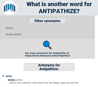 Antipathize, synonym Antipathize, another word for Antipathize, words like Antipathize, thesaurus Antipathize