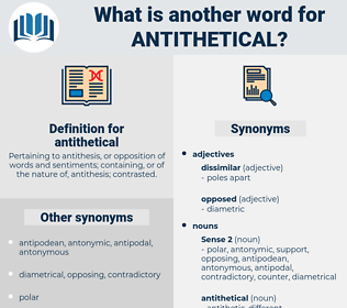 antithetical, synonym antithetical, another word for antithetical, words like antithetical, thesaurus antithetical